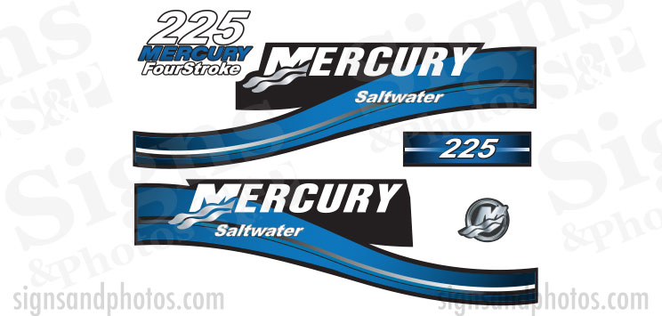 Mercury 225 Blue Decal Kit