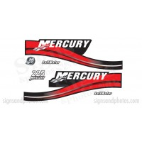 Mercury 225 Red Decal Kit