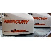 Mercury Optimax 225HP Orange  and Black Decal Kit
