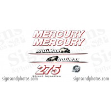 Mercury Optimax 275 Red and white  Decal Kit