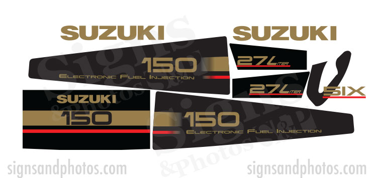 Suzuki 150HP Decal Kit
