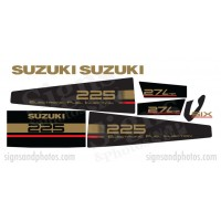 Suzuki 225HP Decal Kit