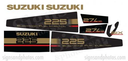 Suzuki 225HP Decal Kit