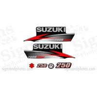 Suzuki 250HP Decal Kit