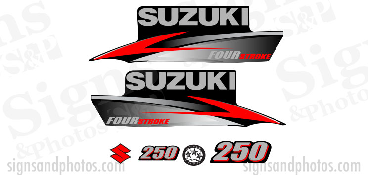 Suzuki 250HP Decal Kit