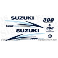 Suzuki 300HP Decal Kit ( ice blue and Dark Blue) 2010 +