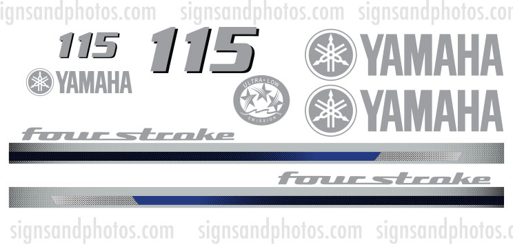 Yamaha 115HP for stroke Decal Kit