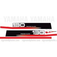 Yamaha V4 130HP  Decal Kit