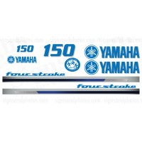 Yamaha-150 light blue with gray shadow four stroke Decal Kit