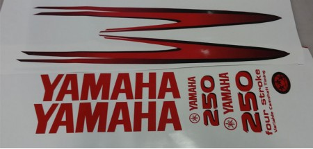 Yamaha 250HP for stroke Decal Kit (Red)