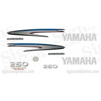 Yamaha 250HP for stroke Decal Kit