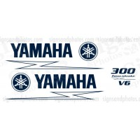 Yamaha 300HP for stroke Decal Kit