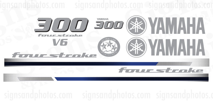 Yamaha 300HP four stroke Decal Kit