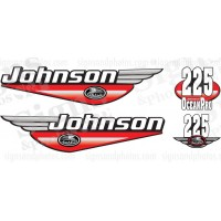 Johnson 225HP Ocean Pro 1992 2000 Red decals set kit.