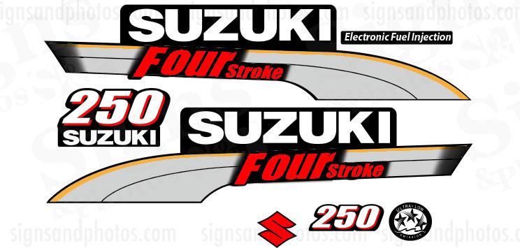 Suzuki 250HP Four Stroke Decal Kit
