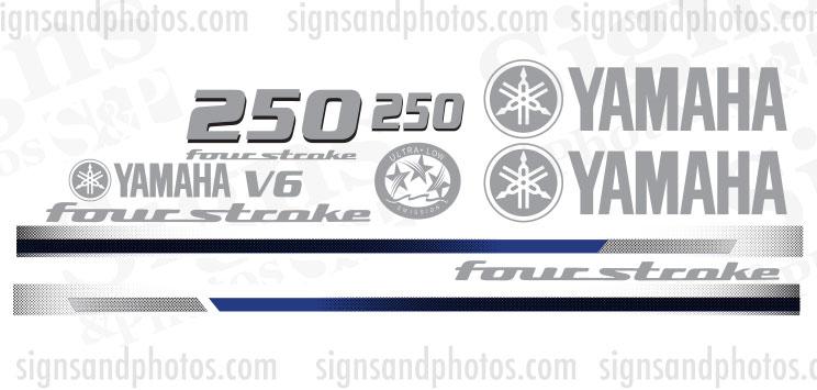 Yamaha 250HP fourstroke Decal Kit