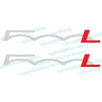 Fiat500L   Logo Decal