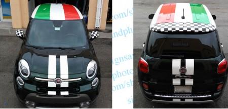 Fiat 500L Italian Flag Kit