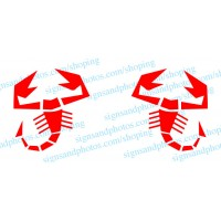 Fiat500  Scorpion Decal  Vinyl  logo- Any Color!