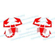 Fiat500  Scorpion Decal  Vinyl  logo- Any Color!