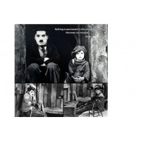 Floating Tempered Glass Charles Chaplin