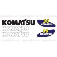 Komatsu 30 forklift Decal KIT