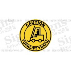 "Forklift Safety Stickers-Decals  ""Caution Forklift Trafic"""