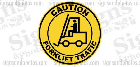 "Forklift Safety Stickers-Decals  ""Caution Forklift Traffic"" 17"""