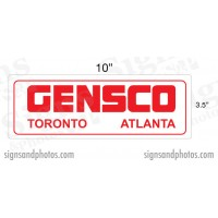 "GENSCO Decal (Toronto, Atlanta) 3.5"" x 10"""