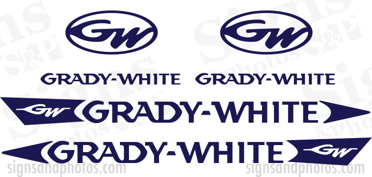 Grady White Decal Kit