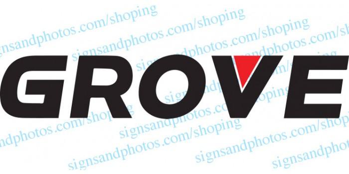"Grove Crane  Vinyl Decal Emblem Logon 95""x17"""