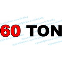 "Grove Crane  Vinyl Decal 60 TON 40"" x 8"""