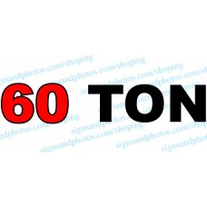 "Grove Crane  Vinyl Decal 60 TON 40"" x 8"""
