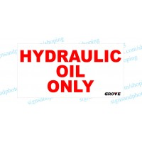 "Grove Crane  Vinyl Decal Hydraulic Only 12""x6.5"""