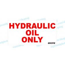 "Grove Crane  Vinyl Decal Hydraulic Only 12""x6.5"""