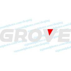 """Grove Crane  Vinyl Decal Emblem Logo 48""""x9"""""""