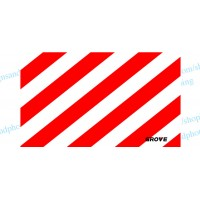 "Grove Crane  Vinyl White-Red Striped 36"" x21"""