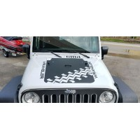 Jeep wrangler 2007-2016 Hood Graphic