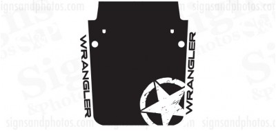 Jeep wrangler 2007-2016 Hood Graphic jeep Star