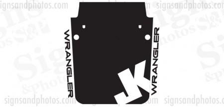 Jeep wrangler 2007-2016 Hood Graphic JK badge