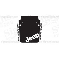 Jeep wrangler 2007-2016 Hood Graphic jeep badge