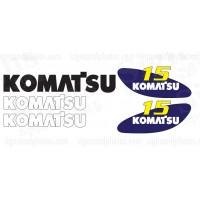 Komatsu 15 forklift Decal KIT