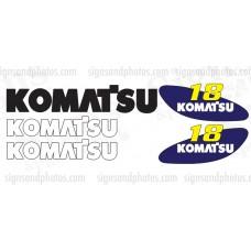 Komatsu 18 forklift Decal KIT