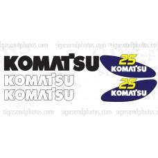 Komatsu 25 forklift Decal KIT