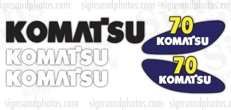 Komatsu 70 forklift Decal KIT