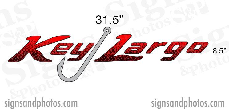 Key Largo Boat Name Decals