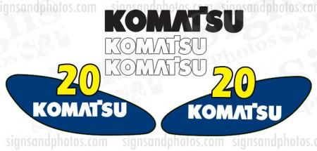 Komatsu 20 forklift Decal KIT