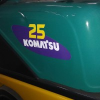 "Komatsu 25 forklift Decal 13""x5.5"" (Left and Right)"