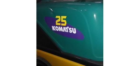 """Komatsu 25 forklift Decal 13""""x5.5"""" (Left and Right)"""