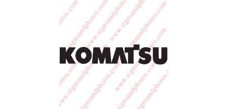 "Komatsu forklift Decal 16""x3"""